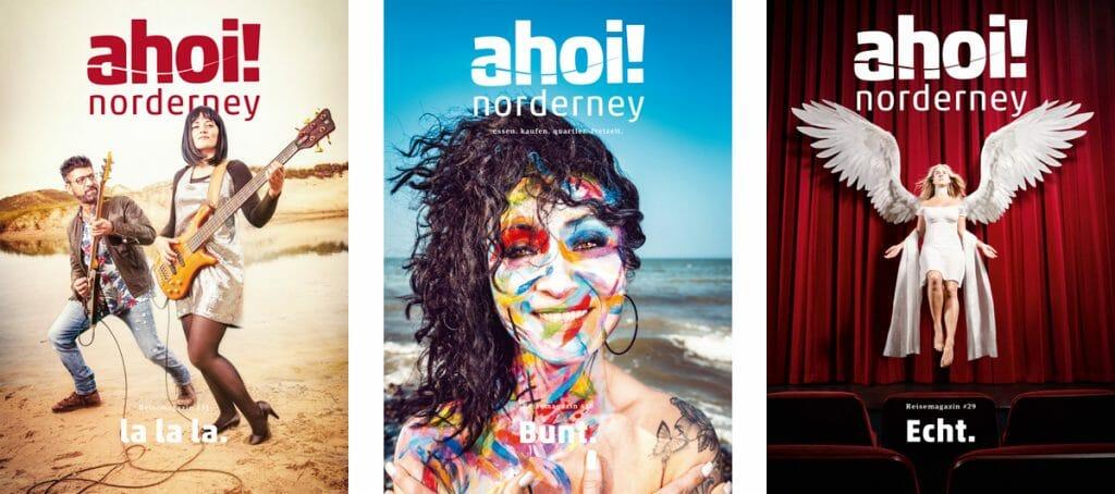 Wir / Cover Beispiele ahoi! norderney Magazin