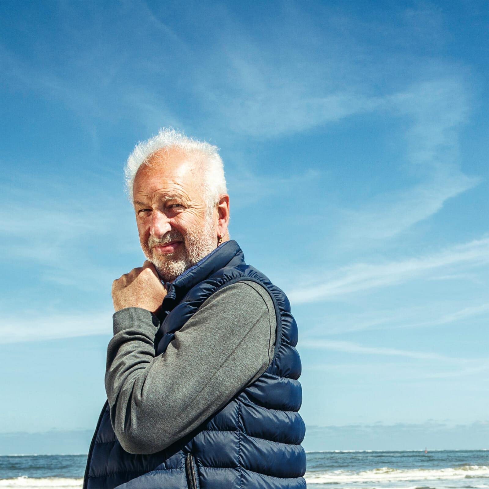 Herbert Visser am Nordstrand von Norderney