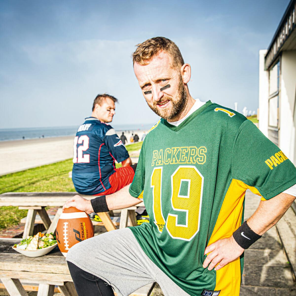Küchenchef Jörg Gericke bei einem speziellen Super Bowl am Weststrand von Norderney