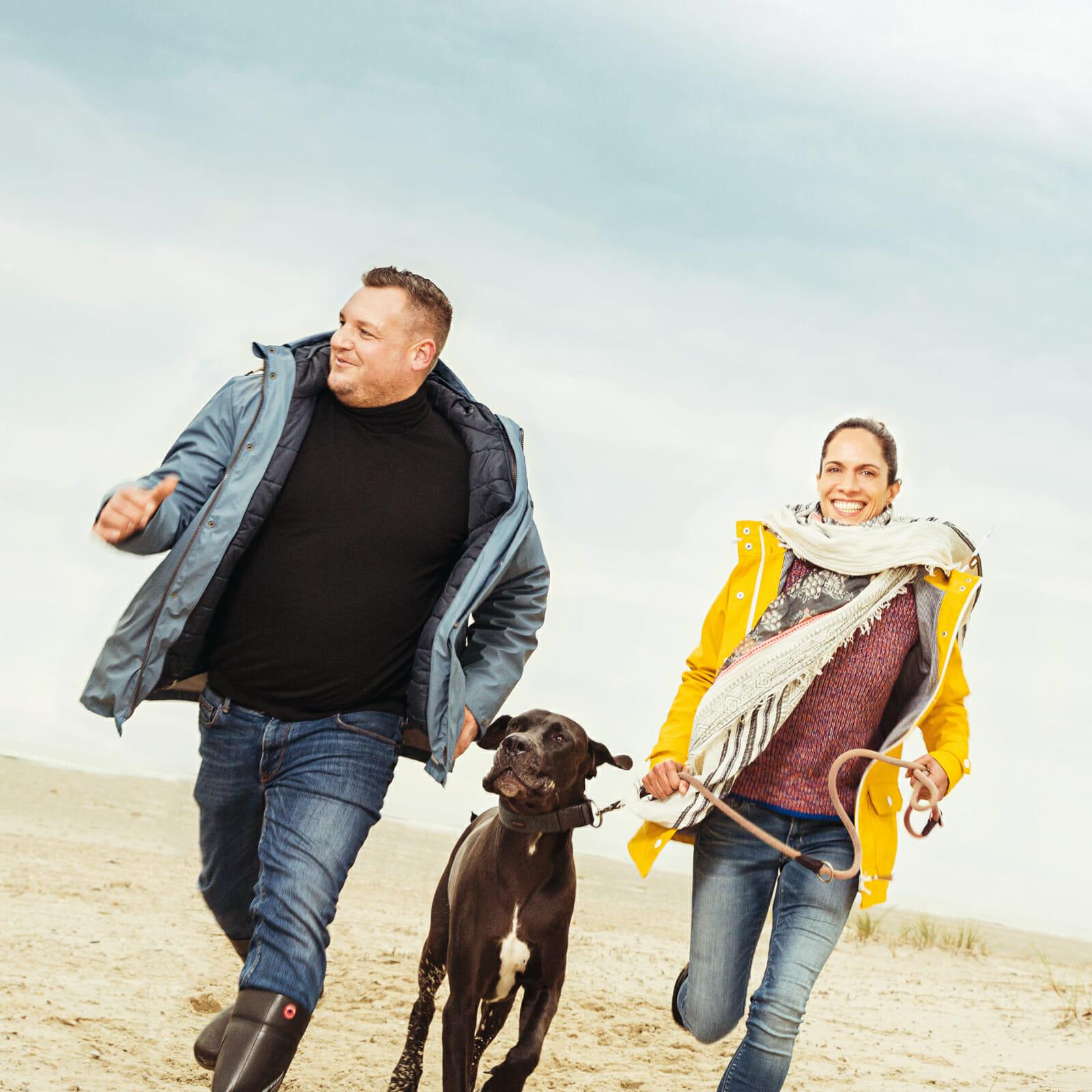 Patrick und Bianca Voeltz vom Restaurant Strandpieper auf Norderney am Strand an der Oase