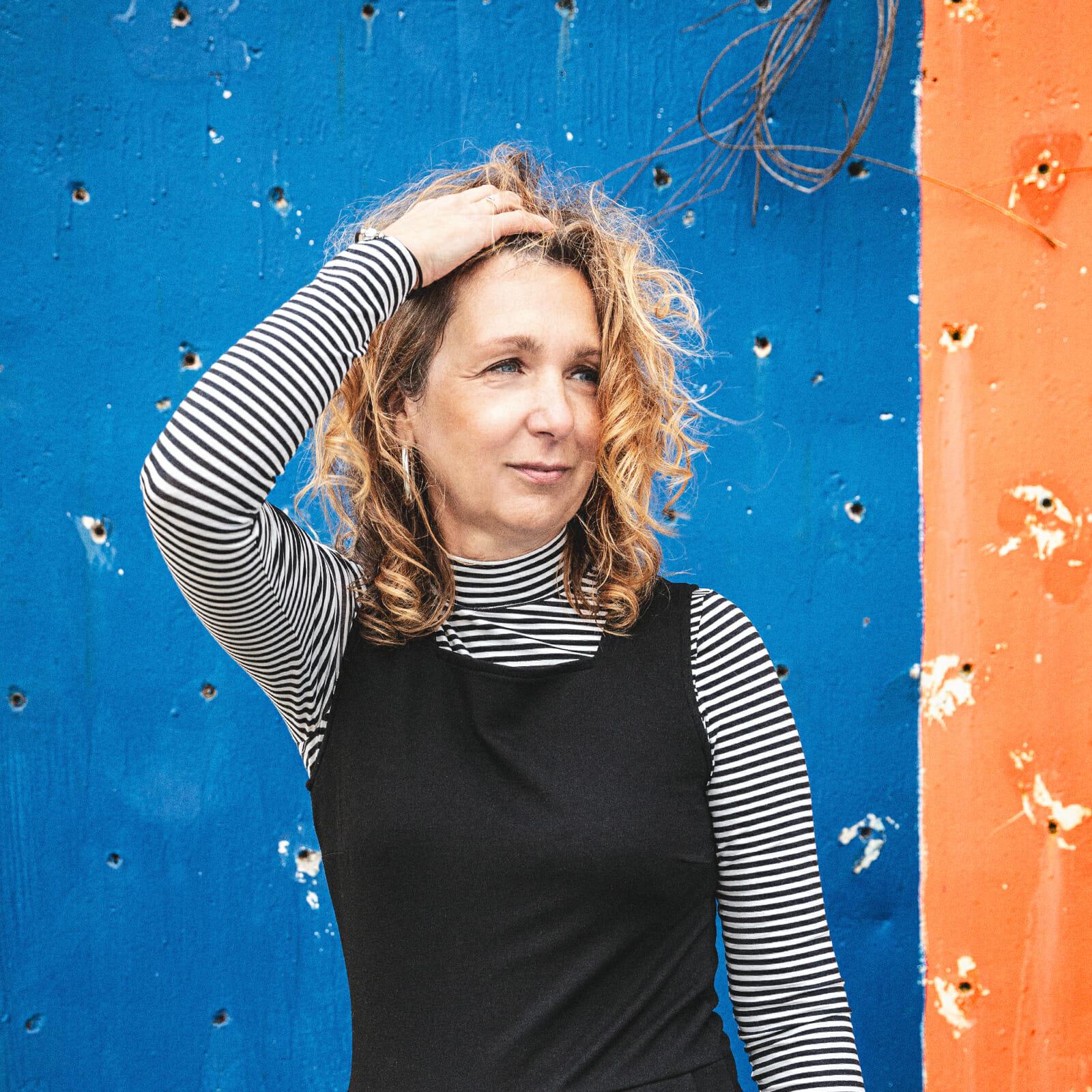 Clarissa Hauk bei Modeaufnahmen auf Norderney