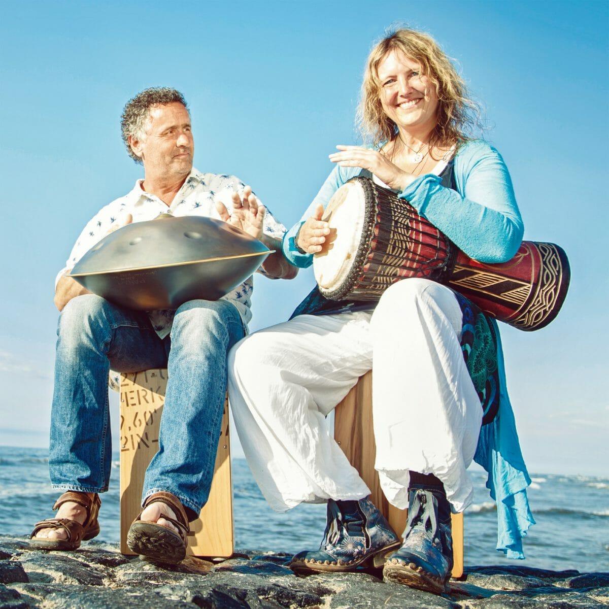 Kirsten Kluin undStephan Jung am Nordstrand von Norderney
