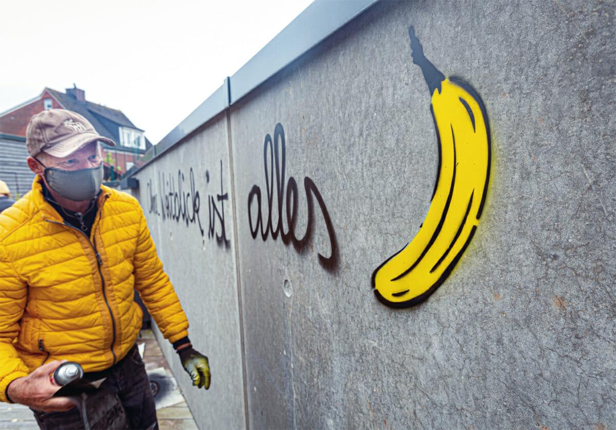 Bananensprayer Thomas Baumgärtel auf Norderney